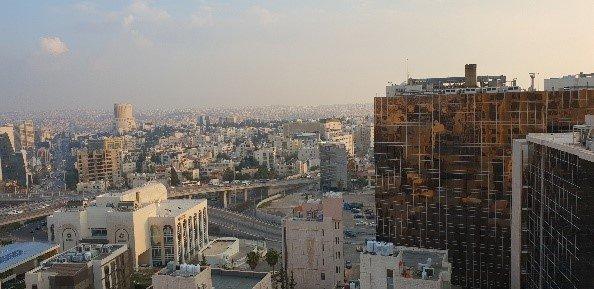 Blick über die Dächer der Hauptstadt Jordaniens Amman